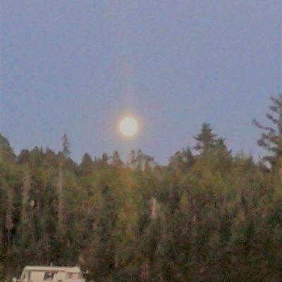 Full Moon Rising Over Ash River