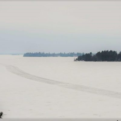 Ice Road on Kabetogama Lake