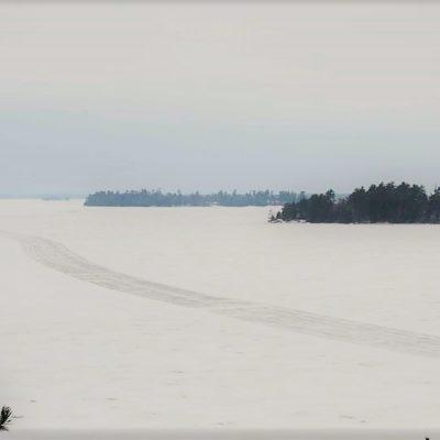 Ice Road on Kabetogama Lake